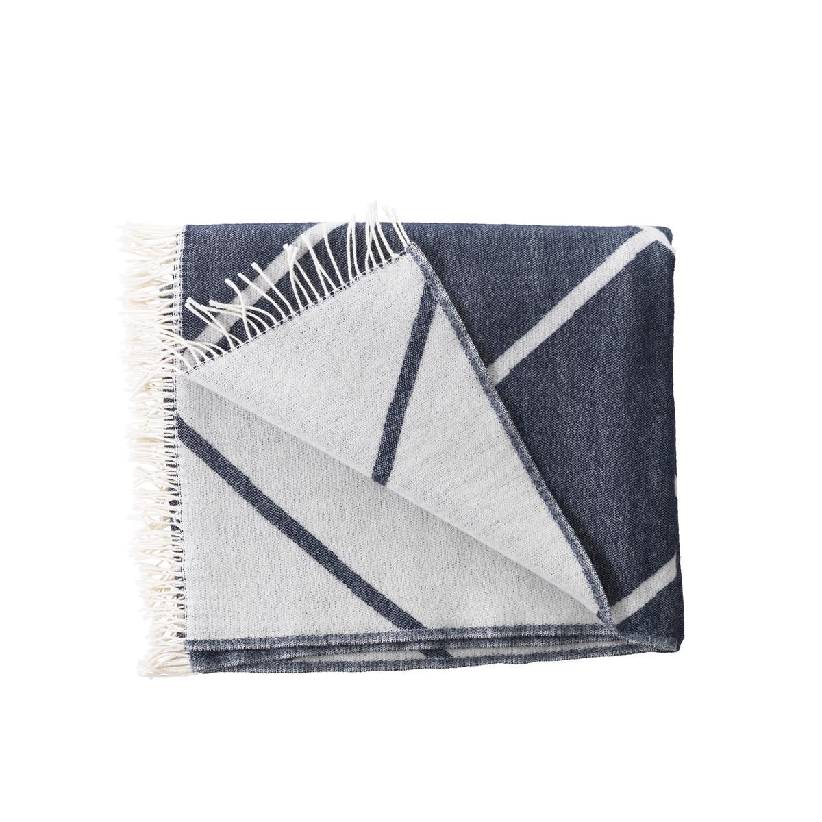 by lassen mesch wolldecke navy blau navy t 140 b 210. Black Bedroom Furniture Sets. Home Design Ideas