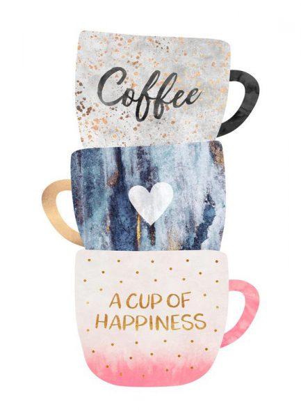A Cup of Happiness Leinwandbild