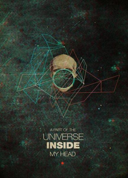 A Part Of The Universe Inside My Head Leinwandbild