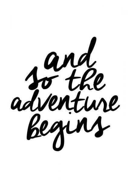 Adventure Begins Leinwandbild