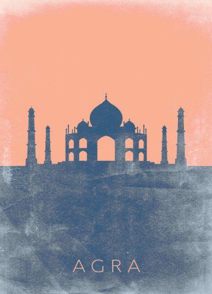 Agra Leinwandbild
