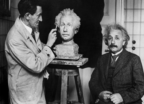 Albert Einstein Portrait Leinwandbild