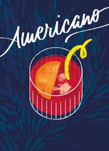 Americano by Lily Albertine Leinwandbild