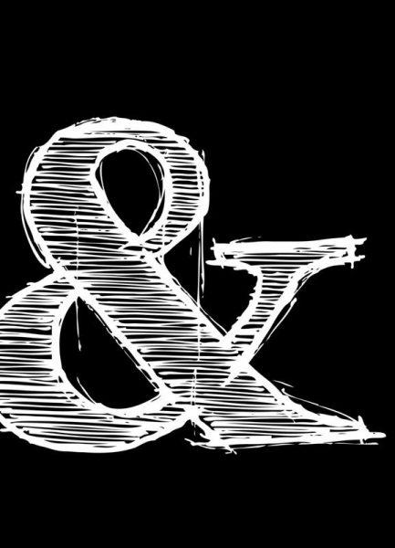 Ampersand Black Leinwandbild