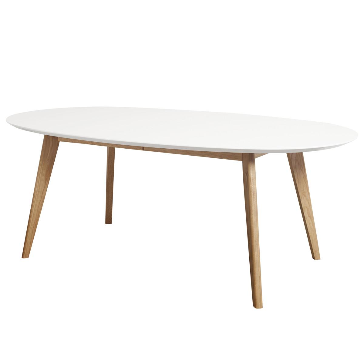 andersen furniture dk10 ausziehtisch oval wei eiche ge lt wei t 110 h 72 b 190 online. Black Bedroom Furniture Sets. Home Design Ideas
