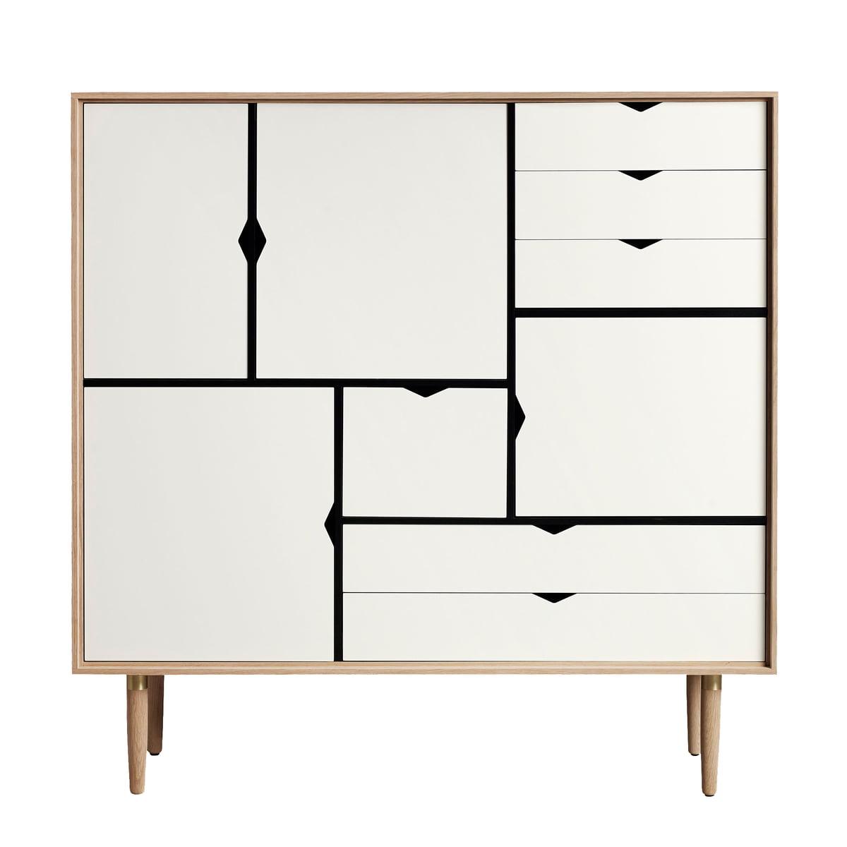 Andersen Furniture S3 Kommode Eiche Geolt Fronten Weiss Weiss T 43