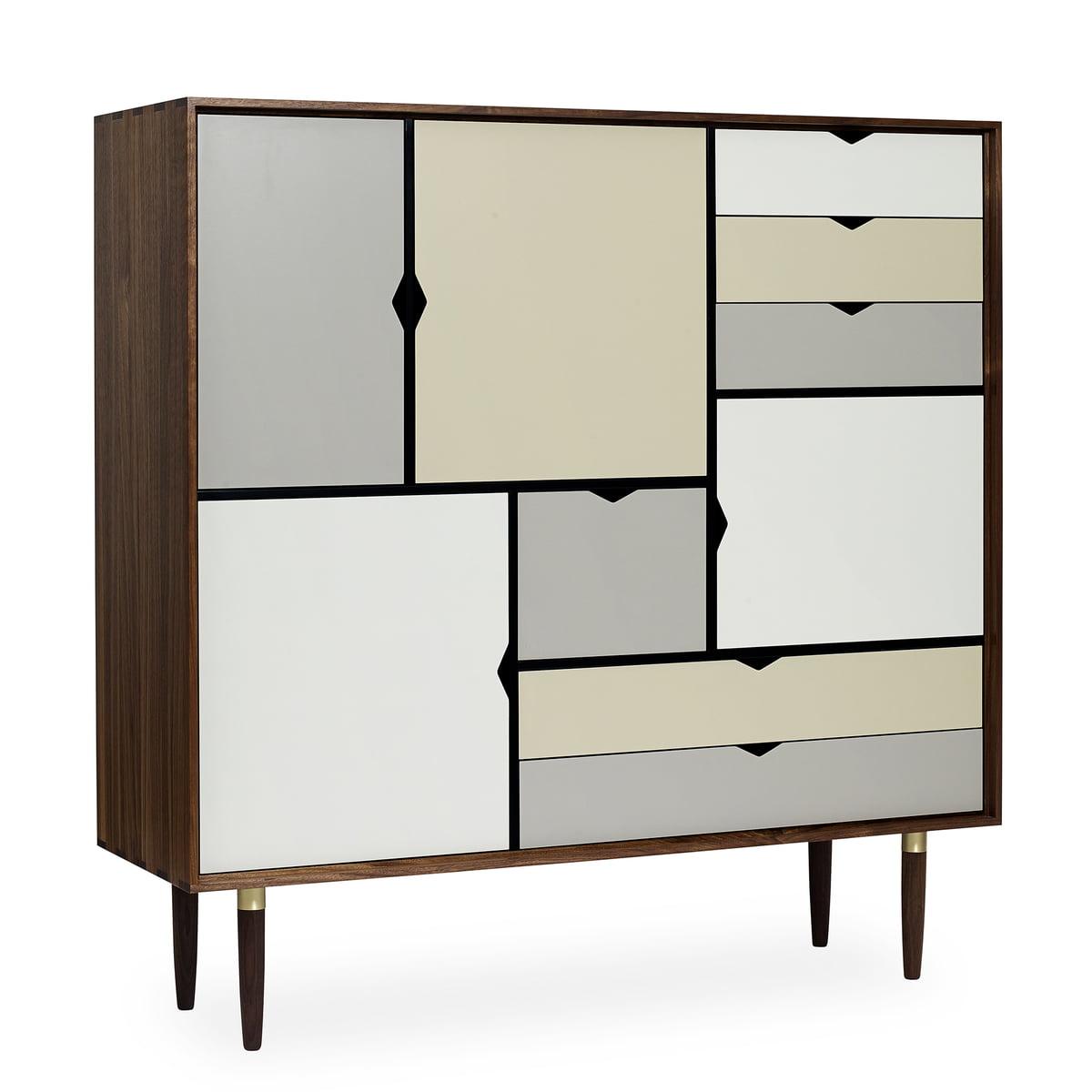 andersen furniture s3 kommode walnuss ge lt fronten. Black Bedroom Furniture Sets. Home Design Ideas