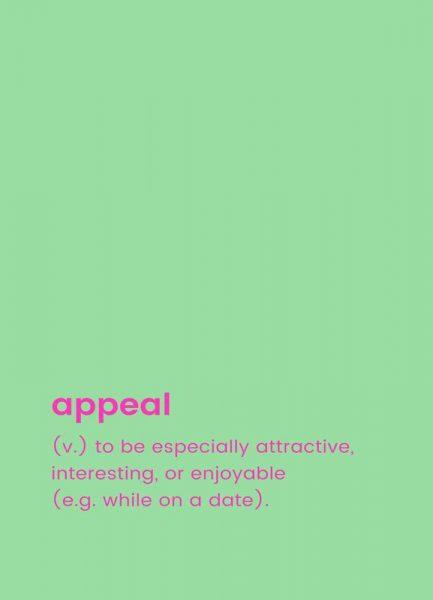 Appeal Leinwandbild