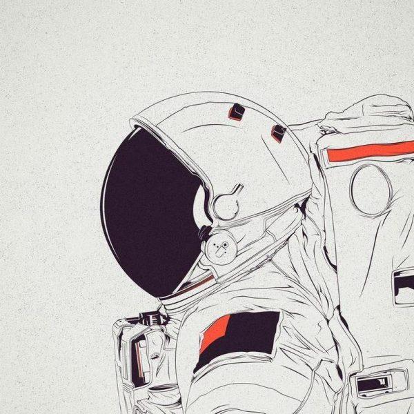 Astro White Leinwandbild