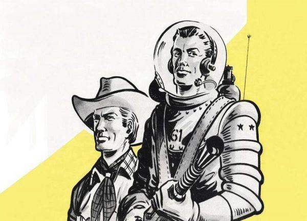 Astronauts and Cowboys Leinwandbild