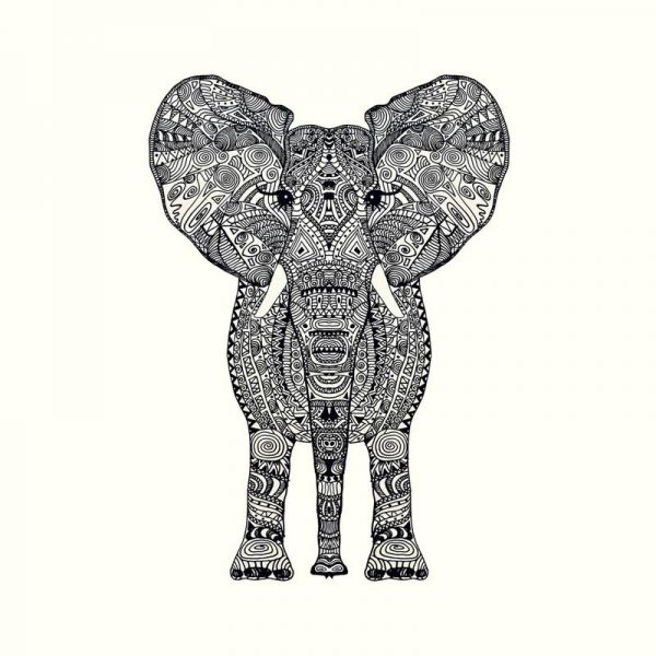 Aztec Elephant Leinwandbild