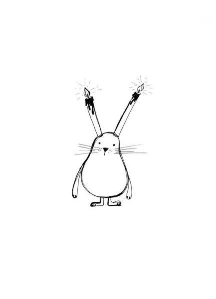 B Day Bunny Leinwandbild