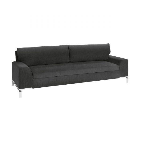 BED for LIVING Divan 3-Sitzer Schlafsofa anthrazit