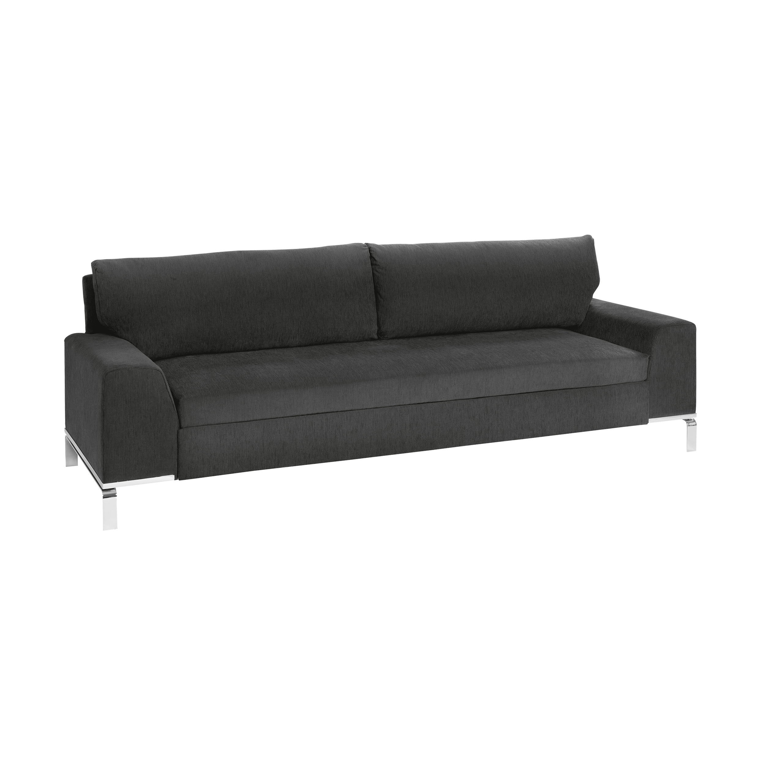bed for living divan 3 sitzer schlafsofa anthrazit. Black Bedroom Furniture Sets. Home Design Ideas