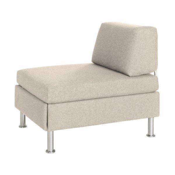 BED for LIVING Function Hocker mit Schublade beige