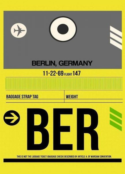 BER Berlin Leinwandbild
