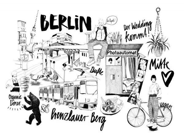 BERLIN 2 Leinwandbild