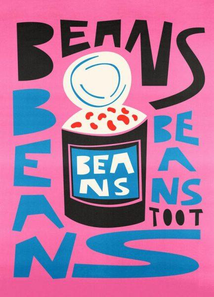 Beans Beans Beans Leinwandbild