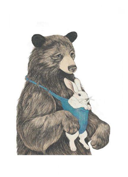 Bear Au Pair Leinwandbild