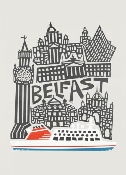 Belfast Leinwandbild