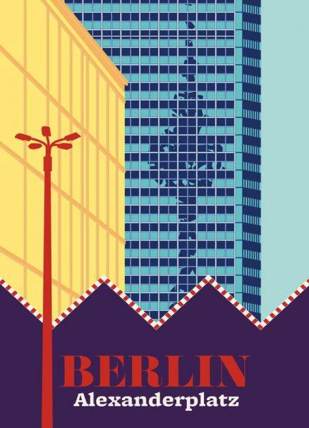 Berlin Alexanderplatz Markt Leinwandbild
