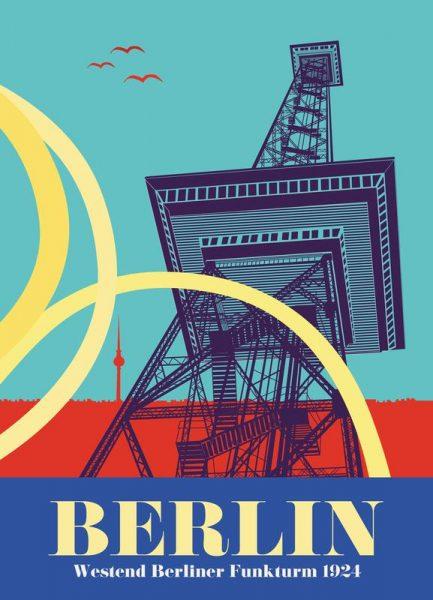 Berlin Funkturm Leinwandbild