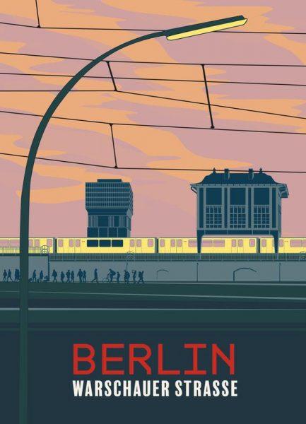 Berlin Warschauer Straße Leinwandbild