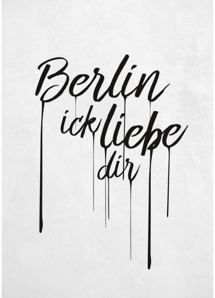 Berlin ick liebe dir Leinwandbild