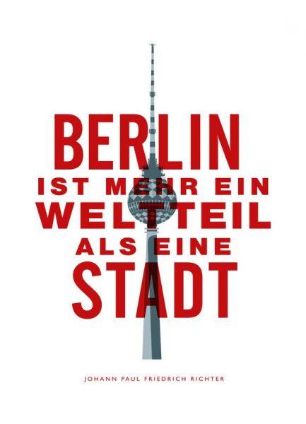 Berlin ist ein Weltteil Leinwandbild