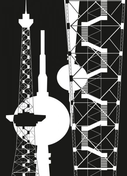 Berliner Fernsehturm & Funkturm 2 Leinwandbild