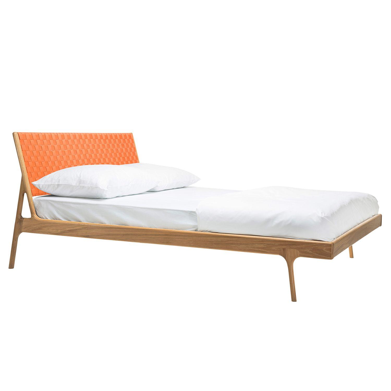 bett fawn ii eiche massiv 180 x 200cm eiche apricot gazzda online kaufen bei woonio. Black Bedroom Furniture Sets. Home Design Ideas