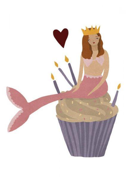 Birthday Mermaid Leinwandbild