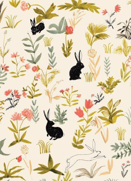 Black Rabbits Leinwandbild