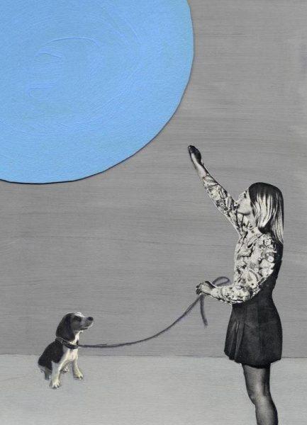 Blue Moon Leinwandbild