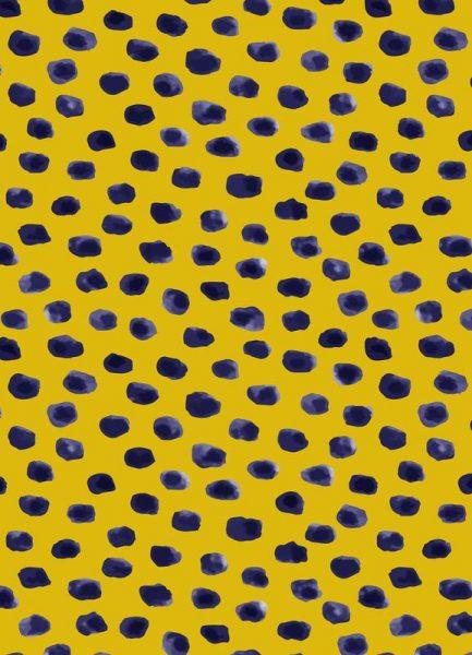 Blueberry Dots Leinwandbild