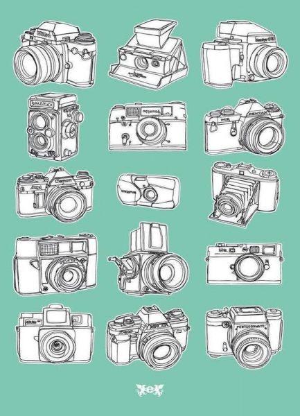 Camera Mint Leinwandbild