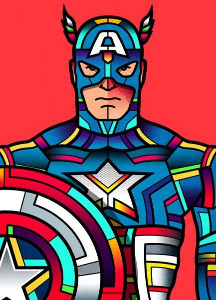 Captain America Leinwandbild
