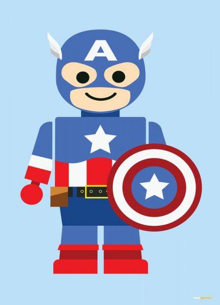 Captain America Toy Leinwandbild