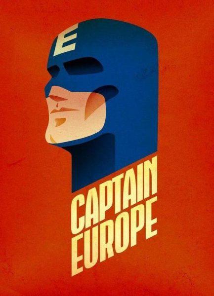 Captain Europe Leinwandbild