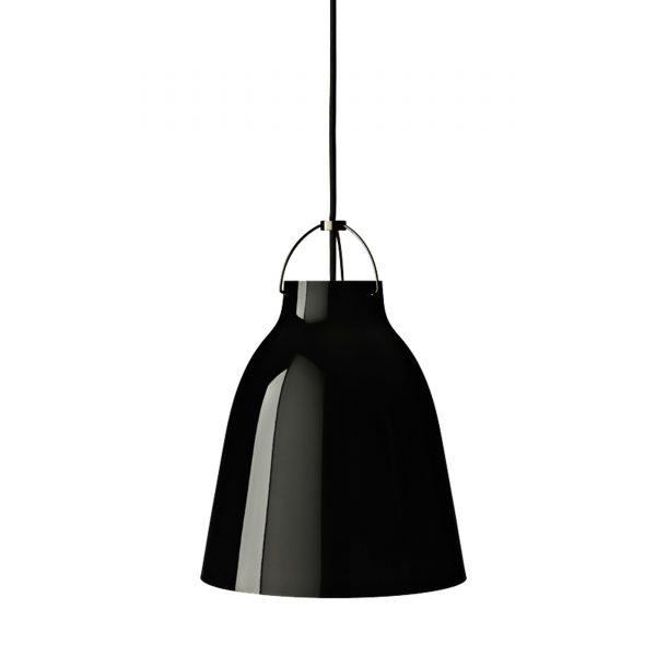 Caravaggio High Gloss Pendelleuchte P2 schwarz-schwarz