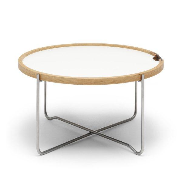 Carl Hansen - CH417 Tray Table Laminat / Eiche geöltSchwarz/WeißH:33