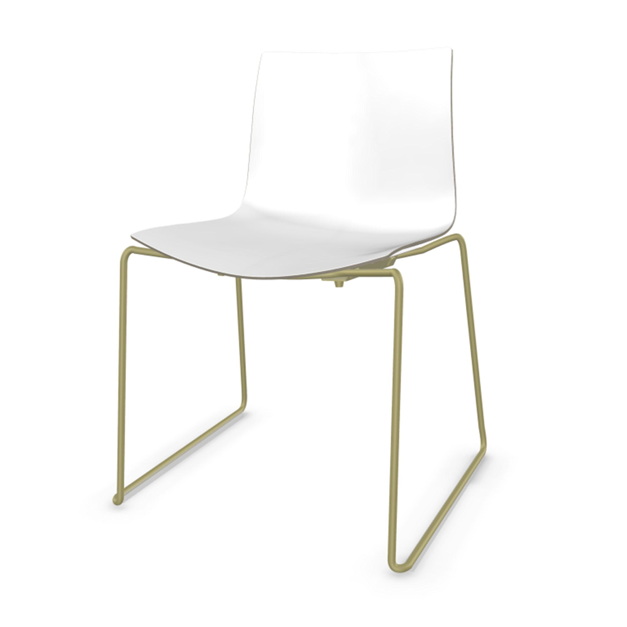 Catifa 46 Stuhl Mit Kufen Zweifarbig Gestell Taubengrau