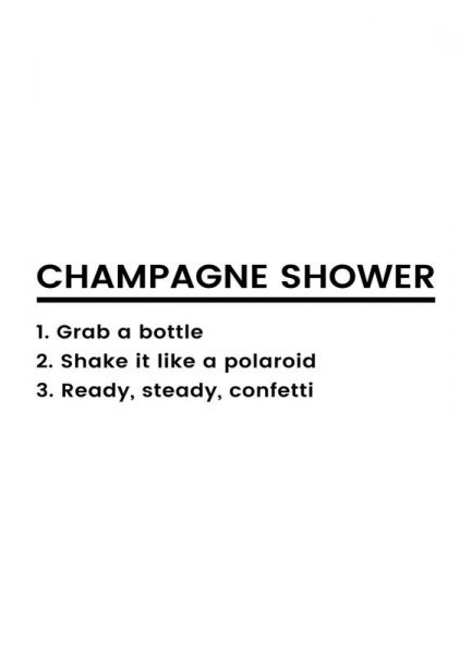Champagne Shower Recipe Leinwandbild