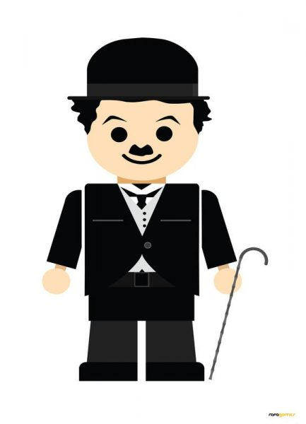 Chaplin Toy Leinwandbild