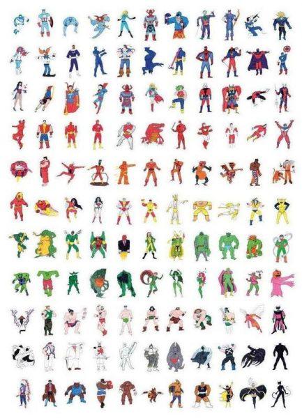 Childhood Heroes 01 Leinwandbild