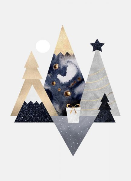 Christmas Mountains Leinwandbild
