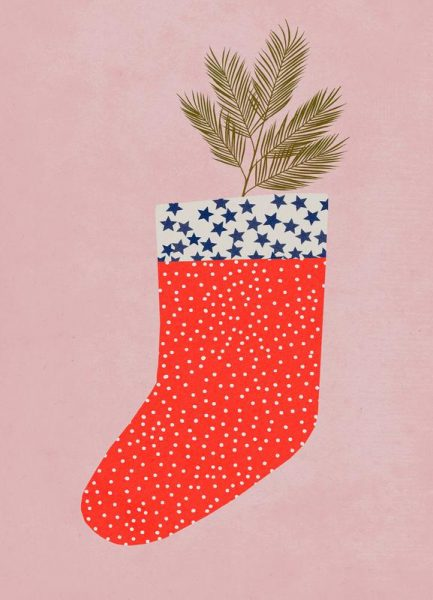 Christmas Sock Leinwandbild