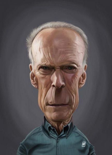 Clint Eastwood Leinwandbild