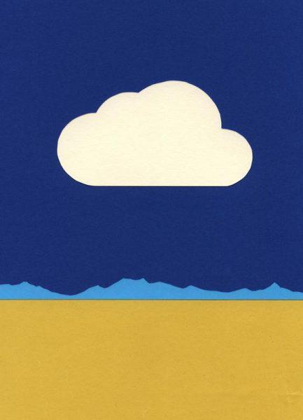 Cloud Over The Desert Leinwandbild