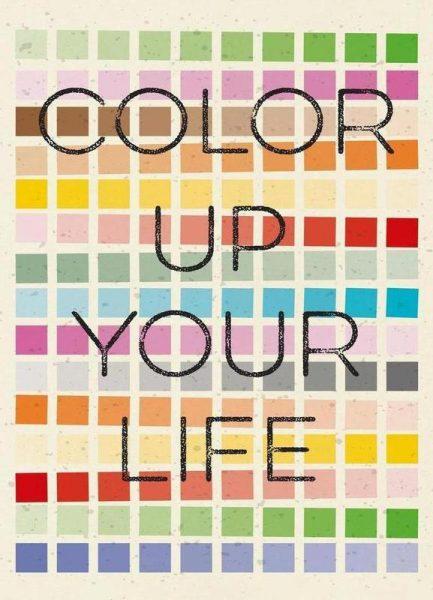 Color up your life Leinwandbild